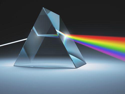 luz de led prisma cores