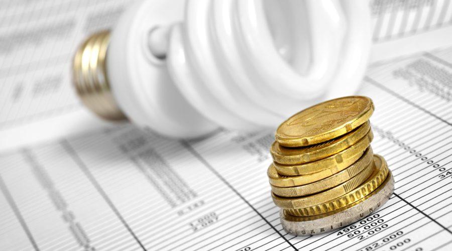 Econimia energia lâmpada dinheiro