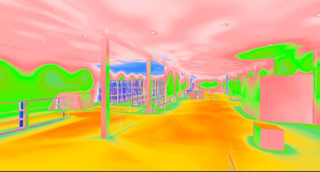 Projeto Dialux 3d cores falsas