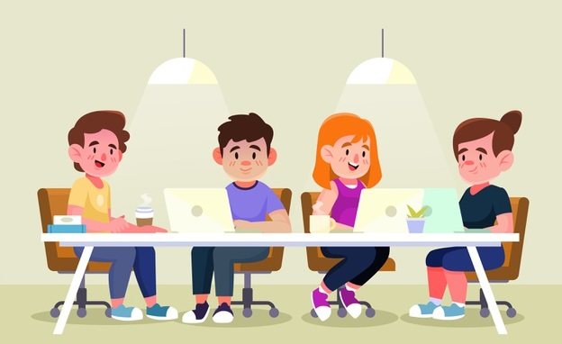pessoas-ilustradas-trabalhando-em-suas-mesas_23-2148279396